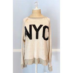 Wildfox NYC Distressed Sweatshirt